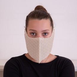 Behelfs- Mund- und Nasenmaske / Alltagsmaske Hanprotec WBF-1 (Einweg), Dreams gold