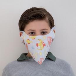 Kinder- Mund- und Nasenmaske / Kindermaske Hanprotec WBF-Kids (Einweg), Unterwasserwelt