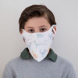 Kinder- Mund- und Nasenmaske / Kindermaske Hanprotec WB-F-Kids (Einweg), Dinos