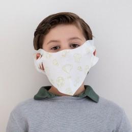 Kinder- Mund- und Nasenmaske / Kindermaske Hanprotec WBF-Kids (Einweg), Fußball grün