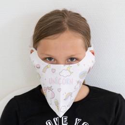 Kinder- Mund- und Nasenmaske / Kindermaske Hanprotec WBF-Kids (Einweg), Einhorn