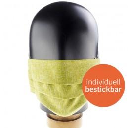 Hygiene-Maske / Community-Maske / Mund- und Nasenmaske aus Polyester, handgenäht, Farbe Primavera, WASCHBAR und WIEDERVERWENDBAR