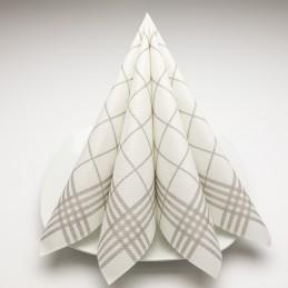 Airlaid Hantessa Serviette 40 x 40 cm, Cuisine taupe