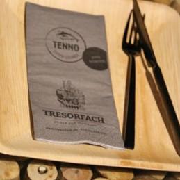 Hantiss Tissue-Serviette (3-lagig) 33 x 33 cm (1/8 Falz), mit Ihrem Werbedruck