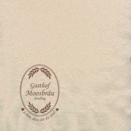 BIO-Hantiss-Serviette (3-lagig) 40 x 40 cm (1/4 Falz), mit Ihrem Werbedruck