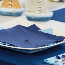 Hantiss Tissue-Serviette (3-lagig) 40 x 40 cm (1/4 Falz), mit Ihrem Werbedruck