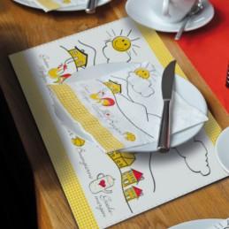 Platzdeckchen aus Offsetpapier, 40 x 31 cm, mit Ihrem Werbedruck