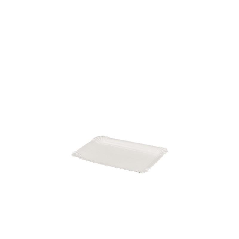 Bio Pappteller weiß eckig, 10x16cm