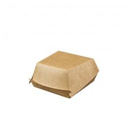 Bio Burgerbox Hartpapier braun, 12x12x7,5cm
