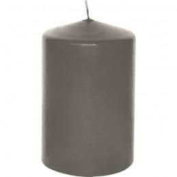 Stumpen Kerzen schiefer, Ø 6,8cm, H 13,5cm