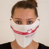 Einweg-Behelfsmasken / Alltagsmasken mit individuellem Werbedruck