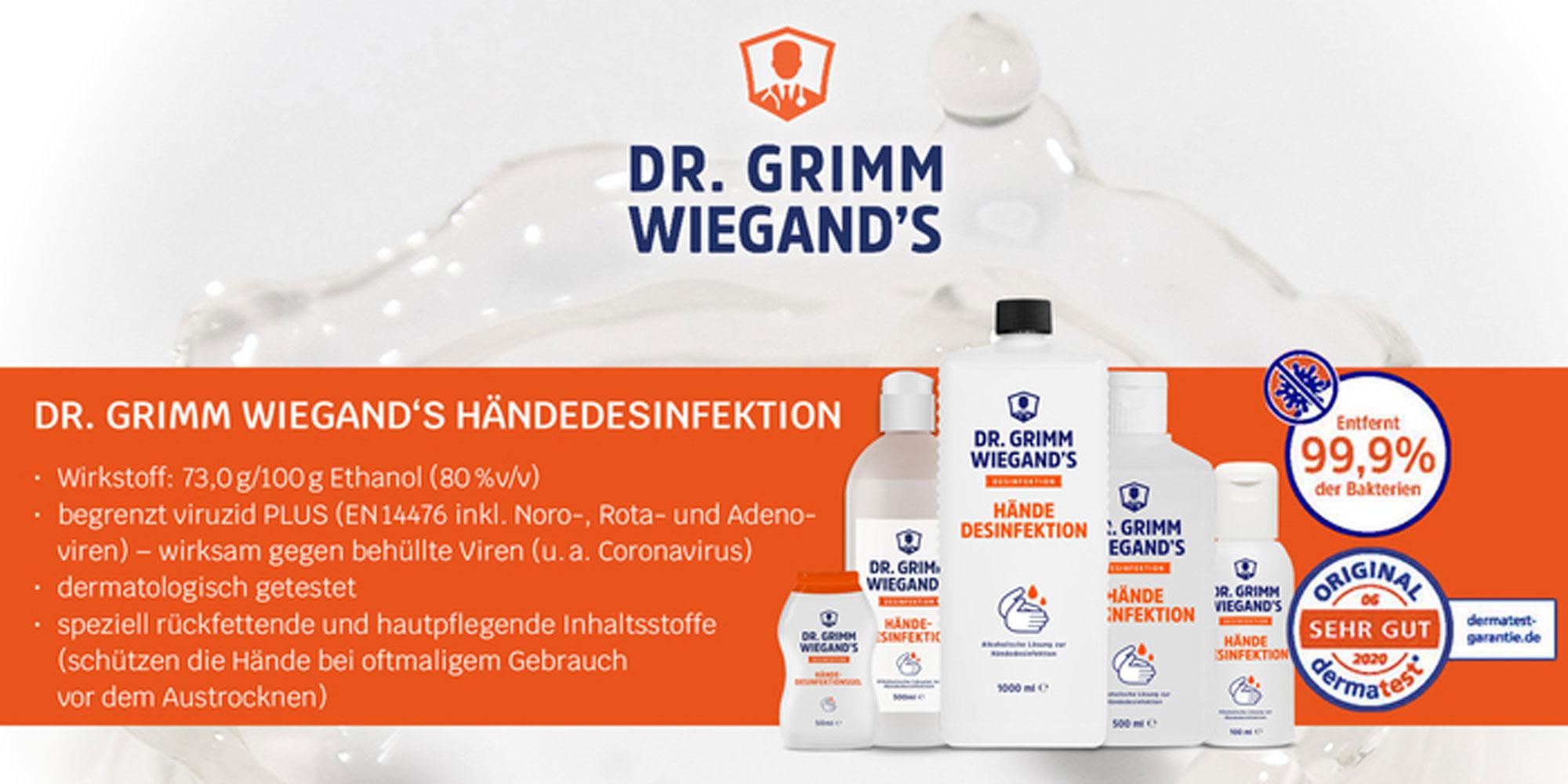Haendedesinfektionsmittel - Flaechendesinfektionsmittel kaufen