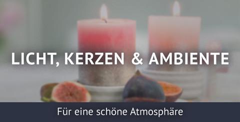 Mehr Flair mit - Kerzen, Licht & Ambiente